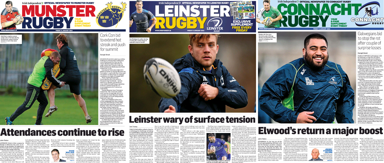 Irish Independent Rugby Supplement Leads