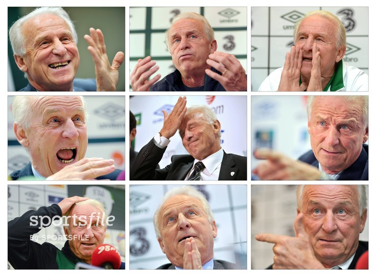 11 September 2013; A composite image of Giovanni Trapattoni during his career as Republic of Ireland manager. Picture credit: SPORTSFILE