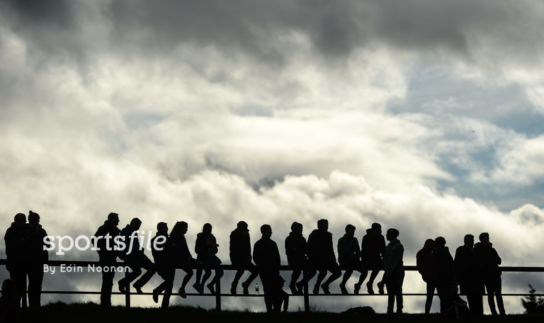 19 March 2017; Spectators watch on during the Allianz Football League Division 3 Round 5 match between Louth and Armagh at the Gaelic Grounds in Drogheda, Co Louth. Photo by Eóin Noonan/Sportsfile