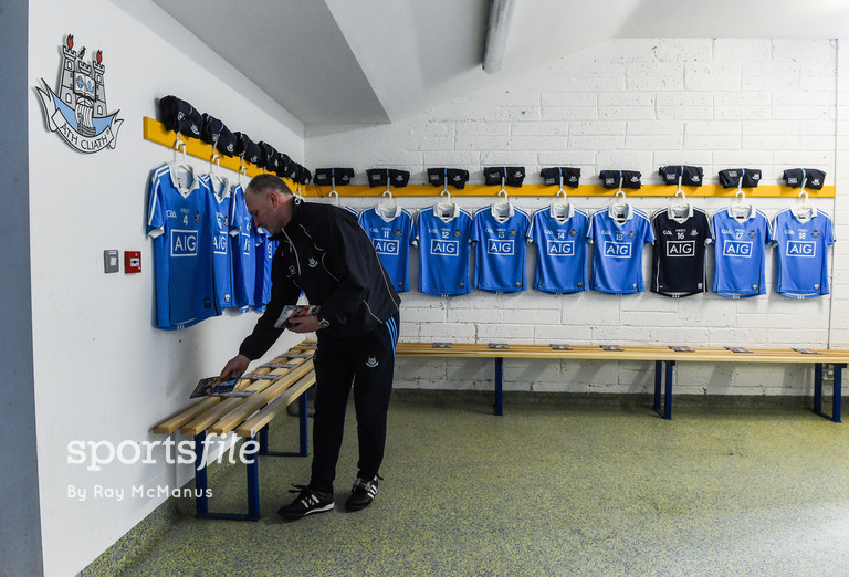 12 March 2017; Dublin kitman Ray Finn at work before the Allianz Hurling League Division 1A Round 4 match between Clare and Dublin at Cusack Park in Ennis, Co. Clare. Photo by Ray McManus/Sportsfile