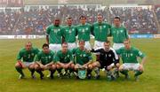 8 June 2005;  Republic of Ireland team, back row left to right, Clinton Morrison, Roy Keane, Kevin Kilbane, John O'Shea, Ian Harte, front row left to right, Stephen Carr, Andy Reid, Stephen Elliott, Kenny Cunningham, Shay Given and Damien Duff. FIFA 2006 World Cup Qualifier, Faroe Islands v Republic of Ireland, Torsvollur Stadium, Torshavn, Faroe Islands. Picture credit; David Maher / SPORTSFILE