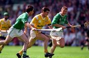 4 August 1996; Alister Elliot of Antrim during the GAA Hurling All-Ireland Senior Championship Semi-Final match between Antrim and Limerick at Croke Park in Dublin. Photo by Ray McManus/Sportsfile