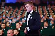 3 November 2017; Hurler of the Year Joe Canning of Galway walks up to get his award during the PwC All Stars 2017 at the Convention Centre in Dublin. Photo by Brendan Moran/Sportsfile