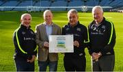 4 November 2017; In attendance at the GAA Healthy Clubs Recognition Event, supported by Irish Life, which saw 58 GAA clubs recognised as the first official 'Healthy Clubs' on the island of Ireland is David Harney, CEO Irish Life, presenting an award to St Colmcilles Healthy Club, Co Meath, members, from left, James Kelly, Pat Kelly and Jackser Kavanagh. The GAA's Healthy Clubs Project hopes to transform GAA clubs nationally into hubs for community health and wellbeing. As part of the programme, each club is trained to deliver advice and information programmes on a variety of different topics including, physical activity; emotional wellbeing; healthy eating; community development, to name but a few. For more information, visit: www.gaa.ie/community. Croke Park, Dublin. Photo by Piaras Ó Mídheach/Sportsfile