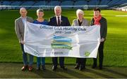 4 November 2017; In attendance at the GAA Healthy Clubs Recognition Event, supported by Irish Life, which saw 58 GAA clubs recognised as the first official 'Healthy Clubs' on the island of Ireland are, from left, David Harney, CEO Irish Life, Fiona Teague, Health Improvement Manager with the Public Health Agency with a regional responsibility for Mental and Emotional Well Being and Suicide Prevention, Uachtarán Chumann Lúthchleas Gael Aogán Ó Fearghail, Catherine Byrne, Minister of State for Health Promotion and the National Drugs Strategy, Department of Health, and Biddy O'Neill, Healthy Ireland. The GAA's Healthy Clubs Project hopes to transform GAA clubs nationally into hubs for community health and wellbeing. As part of the programme, each club is trained to deliver advice and information programmes on a variety of different topics including, physical activity; emotional wellbeing; healthy eating; community development, to name but a few. For more information, visit: www.gaa.ie/community. Croke Park, Dublin. Photo by Piaras Ó Mídheach/Sportsfile