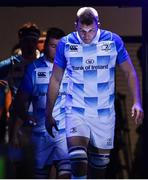 3 November 2017; Leinster captain Ross Molony leads his team out ahead of the Guinness PRO14 Round 8 match between Glasgow Warriors and Leinster at Scotstoun in Glasgow, Scotland. Photo by Ramsey Cardy/Sportsfile