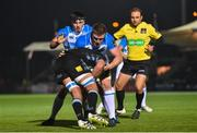 3 November 2017; Tim Swinson of Glasgow Warriors is tackled by Dan Leavy of Leinster during the Guinness PRO14 Round 8 match between Glasgow Warriors and Leinster at Scotstoun in Glasgow, Scotland. Photo by Ramsey Cardy/Sportsfile