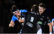 3 November 2017; Max Deegan of Leinster is tackled by George Horne of Glasgow Warriors during the Guinness PRO14 Round 8 match between Glasgow Warriors and Leinster at Scotstoun in Glasgow, Scotland. Photo by Ramsey Cardy/Sportsfile