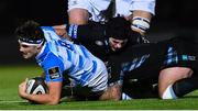3 November 2017; Max Deegan of Leinster during the Guinness PRO14 Round 8 match between Glasgow Warriors and Leinster at Scotstoun in Glasgow, Scotland. Photo by Ramsey Cardy/Sportsfile
