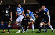 3 November 2017; Dave Kearney of Leinster is tackled by Peter Horne of Glasgow Warriors during the Guinness PRO14 Round 8 match between Glasgow Warriors and Leinster at Scotstoun in Glasgow, Scotland. Photo by Ramsey Cardy/Sportsfile
