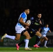 3 November 2017; Adam Byrne of Leinster during the Guinness PRO14 Round 8 match between Glasgow Warriors and Leinster at Scotstoun in Glasgow, Scotland. Photo by Ramsey Cardy/Sportsfile