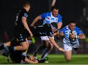 3 November 2017; Andrew Porter of Leinster is tackled by Scott Cummings of Glasgow Warriors during the Guinness PRO14 Round 8 match between Glasgow Warriors and Leinster at Scotstoun in Glasgow, Scotland. Photo by Ramsey Cardy/Sportsfile