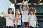 4 November 2017; In attendance at the GAA Healthy Clubs Recognition Event, supported by Irish Life, which saw 58 GAA clubs recognised as the first official 'Healthy Clubs' on the island of Ireland are, from left, Aoibhe Lalor age 7, Méabh McDonald, age 4, Conor McDonald, age 6, and Alannah Lalor, age 5, all from the St Colmcilles Healthy Club in Meath. The GAA's Healthy Clubs Project hopes to transform GAA clubs nationally into hubs for community health and wellbeing. As part of the programme, each club is trained to deliver advice and information programmes on a variety of different topics including, physical activity; emotional wellbeing; healthy eating; community development, to name but a few. For more information, visit: www.gaa.ie/community. Croke Park, Dublin. Photo by Piaras Ó Mídheach/Sportsfile