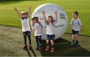 4 November 2017; In attendance at the GAA Healthy Clubs Recognition Event, supported by Irish Life, which saw 58 GAA clubs recognised as the first official 'Healthy Clubs' on the island of Ireland are, from left, Aoibhe Lalor age 7, Alannah Lalor, age 5, Méabh McDonald, age 4, and Conor McDonald, age 6, all from the St Colmcilles Healthy Club in Meath. The GAA's Healthy Clubs Project hopes to transform GAA clubs nationally into hubs for community health and wellbeing. As part of the programme, each club is trained to deliver advice and information programmes on a variety of different topics including, physical activity; emotional wellbeing; healthy eating; community development, to name but a few. For more information, visit: www.gaa.ie/community. Croke Park, Dublin. Photo by Piaras Ó Mídheach/Sportsfile