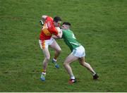 4 November 2017; Paddy Durkan of Castlebar Mitchels in action against Oisin Madden of Mohill during the AIB Connacht GAA Football Senior Club Championship Quarter-Final match between Castlebar Mitchels and Mohill at Elvery's MacHale Park in Castlebar, Co Mayo. Photo by Seb Daly/Sportsfile