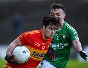 4 November 2017; Cian Costello of Castlebar Mitchels in action against James Mitchell of Mohill during the AIB Connacht GAA Football Senior Club Championship Quarter-Final match between Castlebar Mitchels and Mohill at Elvery's MacHale Park in Castlebar, Co Mayo. Photo by Seb Daly/Sportsfile