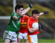 4 November 2017; Neil Douglas of Castlebar Mitchels in action against Alan McLoughlin of Mohill during the AIB Connacht GAA Football Senior Club Championship Quarter-Final match between Castlebar Mitchels and Mohill at Elvery's MacHale Park in Castlebar, Co Mayo. Photo by Seb Daly/Sportsfile