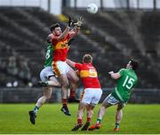 4 November 2017; Aidan Walsh of Castlebar Mitchels in action against Darren McLoughlin of Mohill during the AIB Connacht GAA Football Senior Club Championship Quarter-Final match between Castlebar Mitchels and Mohill at Elvery's MacHale Park in Castlebar, Co Mayo. Photo by Seb Daly/Sportsfile