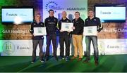 4 November 2017; Tipperary representatives, from left, Michael Geaney, Nenagh Éire Óg, Séamus Delaney and Kevin Fitzgerald, JK Brackens, and Liam Fleming, Fr Sheehy's, with their Official Healthy Club awards alongside Seán Cavanagh, Healthy Clubs Ambassador and former Tyrone footballer. The GAA Healthy Clubs Recognition Event, supported by Irish Life, saw 58 GAA clubs recognised as the first official 'Healthy Clubs' on the island of Ireland. The GAA's Healthy Clubs Project hopes to transform GAA clubs nationally into hubs for community health and wellbeing. As part of the programme, each club is trained to deliver advice and information programmes on a variety of different topics including, physical activity; emotional wellbeing; healthy eating; community development, to name but a few. For more information, visit: www.gaa.ie/community. Croke Park, Dublin. Photo by Piaras Ó Mídheach/Sportsfile