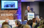 4 November 2017; Catherine Byrne, Minister of State for Health Promotion and the National Drugs Strategy, Department of Health, speaking at the GAA Healthy Clubs Recognition Event, supported by Irish Life, which saw 58 GAA clubs recognised as the first official 'Healthy Clubs' on the island of Ireland. The GAA's Healthy Clubs Project hopes to transform GAA clubs nationally into hubs for community health and wellbeing. As part of the programme, each club is trained to deliver advice and information programmes on a variety of different topics including, physical activity; emotional wellbeing; healthy eating; community development, to name but a few. For more information, visit: www.gaa.ie/community. Croke Park, Dublin. Photo by Piaras Ó Mídheach/Sportsfile
