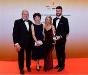 3 November 2017; Kildare hurler Paul Divilly with Aoife Treacy after collecting his Christy Ring Champion 15 Award during the PwC All Stars 2017 at the Convention Centre in Dublin. Photo by Sam Barnes/Sportsfile