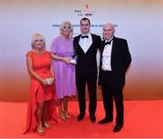 3 November 2017; Warwickshire hurler Liam Watson, second from right, with, from left, Mary McGurk, Mairead Watson and Joe McGurk after collecting his Lory Meagher Champion 15 Award during the PwC All Stars 2017 at the Convention Centre in Dublin. Photo by Sam Barnes/Sportsfile