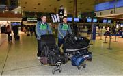 5 November 2017; Eoin Cadogan, right, of Ireland and team selector Darragh O Sé in Dublin prior to departure for Melbourne ahead of the Virgin Australia International Rules Series in Australia. Photo by Brendan Moran/Sportsfile