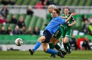 5 November 2017; Karen Duggan of UCD Waves in action against Courtney O'Keeffe of Cork City WFC during the Continental Tyres FAI Women's Cup Final match between Cork City WFC and UCD Waves at the Aviva Stadium in Dublin. Photo by Ramsey Cardy/Sportsfile