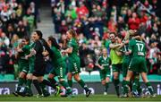 5 November 2017; Cork City WFC players celebrate at the final whistle of the Continental Tyres FAI Women's Cup Final match between Cork City WFC and UCD Waves at the Aviva Stadium in Dublin. Photo by Ramsey Cardy/Sportsfile
