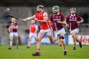 5 November 2017; Jake Malone of Cuala in action against Shane Stapleton of Dicksboro during the AIB Leinster GAA Hurling Senior Club Championship Quarter-Final match between Cuala and Dicksboro at Parnell Park in Dublin. Photo by Brendan Moran/Sportsfile