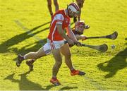 5 November 2017; Con O'Callaghan of Cuala scores his side's second goal despite the best efforts of Cillian Buckley of Dicksboro during the AIB Leinster GAA Hurling Senior Club Championship Quarter-Final match between Cuala and Dicksboro at Parnell Park in Dublin. Photo by Brendan Moran/Sportsfile