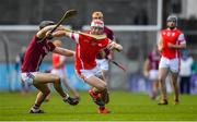 5 November 2017; Con O'Callaghan of Cuala in action against Evan Cody of Dicksboro during the AIB Leinster GAA Hurling Senior Club Championship Quarter-Final match between Cuala and Dicksboro at Parnell Park in Dublin. Photo by Brendan Moran/Sportsfile
