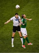5 November 2017; Brian Gartland of Dundalk in action against Karl Sheppard of Cork City during the Irish Daily Mail FAI Senior Cup Final match between Cork City and Dundalk at Aviva Stadium in Dublin. Photo by Sam Barnes/Sportsfile