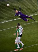 5 November 2017; Gary Rogers of Dundalk  saves an attempt in goal  from Karl Sheppard of Cork City during the Irish Daily Mail FAI Senior Cup Final match between Cork City and Dundalk at Aviva Stadium in Dublin. Photo by Sam Barnes/Sportsfile
