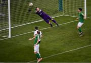5 November 2017; Gary Rogers of Dundalk  saves an attempt on goal from Karl Sheppard of Cork City during the Irish Daily Mail FAI Senior Cup Final match between Cork City and Dundalk at Aviva Stadium in Dublin. Photo by Sam Barnes/Sportsfile