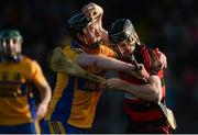 5 November 2017; Barry Coughlan of Ballygunner in action against Jamie Shanahan of Sixmilebridge during the AIB Munster GAA Hurling Senior Club Championship Semi-Final match between Ballygunner and Sixmilebridge at Walsh Park in Waterford. Photo by Piaras Ó Mídheach/Sportsfile