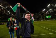5 November 2017; Former Cork City player Sean Maguire celebrates following the Irish Daily Mail FAI Senior Cup Final match between Cork City and Dundalk at the Aviva Stadium in Dublin. Photo by Ramsey Cardy/Sportsfile