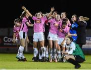 4 November 2017; Wexford Youths players celebrate after the Continental Tyres Women's National League match between Wexford Youths and Peamount United at Ferrycarrig Park in Wexford. Photo by Matt Browne/Sportsfile