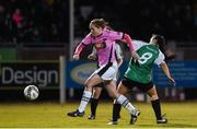 4 November 2017; Edel Kennedy of Wexford Youths in action against Niamh Farrelly of Peamount United during the Continental Tyres Women's National League match between Wexford Youths and Peamount United at Ferrycarrig Park in Wexford. Photo by Matt Browne/Sportsfile