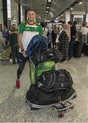 6 November 2017; Eoin Cadogan as the 2017 Ireland International Rules Squad arrive in Melbourne at Melbourne Airport, in Australia. Photo by Ray McManus/Sportsfile