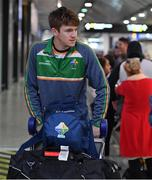 6 November 2017; Kevin Feely as the 2017 Ireland International Rules Squad arrive in Melbourne at Melbourne Airport, in Australia. Photo by Ray McManus/Sportsfile
