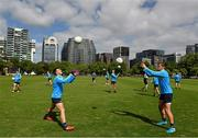 7 November 2017; Niall Murphy, left, and Enda Smith during Ireland International Rules squad training at Wesley College, St Kilda Road Complex, Melbourne, Australia. Photo by Ray McManus/Sportsfile