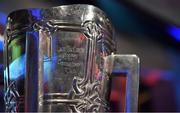 3 November 2017; Detail view of the Liam MacCarthy cups during the PwC All Stars 2017 at the Convention Centre in Dublin. Photo by Brendan Moran/Sportsfile