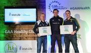 4 November 2017; Wicklow representatives, Paul Sweeney, Bray Emmets GAA, left, and Declan Byrne, Annacurra GAA, with their Official Healthy Club Awards alongside Seán Cavanagh, Healthy Clubs Ambassador and former Tyrone Footballer. The special ceremony held in Croke Park saw 58 GAA clubs recognised as the first official 'Healthy Clubs' on the island of Ireland. The GAA's Healthy Clubs Project hopes to transform GAA clubs nationally into hubs for community health and wellbeing. As part of the programme, each club is trained to deliver advice and information programmes on a variety of different topics including, physical activity; emotional wellbeing; healthy eating; community development, to name but a few. For more information, visit: www.gaa.ie/community. Croke Park, Dublin. Photo by Piaras Ó Mídheach/Sportsfile