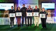 4 November 2017; Dublin representatives, from left, Edel Cummins, of Good Counsel, Karen Wilkinson, of Raheny, Aidan O'Toole, of Craobh Chiaráin GAA, Kevin Mulligan, of Kilmacud Crokes GAA, and Jackie Blanchfield, of Thomas Davis GAA, with their Official Healthy Club Awards alongside Seán Cavanagh, Healthy Clubs Ambassador and former Tyrone Footballer. The special ceremony held in Croke Park saw 58 GAA clubs recognised as the first official 'Healthy Clubs' on the island of Ireland. The GAA's Healthy Clubs Project hopes to transform GAA clubs nationally into hubs for community health and wellbeing. As part of the programme, each club is trained to deliver advice and information programmes on a variety of different topics including, physical activity; emotional wellbeing; healthy eating; community development, to name but a few. For more information, visit: www.gaa.ie/community. Croke Park, Dublin. Photo by Piaras Ó Mídheach/Sportsfile