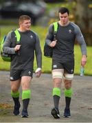 7 November 2017; Tadhg Furlong, left, and James Ryan arrive for Ireland rugby squad training at Carton House in Maynooth, Kildare. Photo by Brendan Moran/Sportsfile
