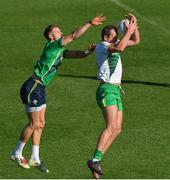 8 November 2017; Michael Murphy and Eoin Cadogan during an intersquad Ireland International Rules training game at Punt Road Oval, Yarra Park, Richmond, Melbourne, Australia Photo by Ray McManus/Sportsfile