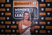 8 November 2017; Saoirse Noonan of Cork City WFC with her young player of the year trophy during Continental Tyres Women's National League Awards at Guinness Storehouse in Dublin. Photo by Eóin Noonan/Sportsfile
