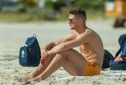 9 November 2017; Killian Clarke before going for a swim as the Ireland International Rules Squad relax at Glenelg Beach, Adelaide, Australia. Photo by Ray McManus/Sportsfile