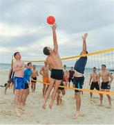 9 November 2017; Niall Grimley and Michael Murphy as the Ireland International Rules Squad play a game of Volleyball at Glenelg Beach, Adelaide, Australia. Photo by Ray McManus/Sportsfile
